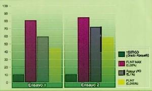eficacia Flint Max en monilia en melocotonero