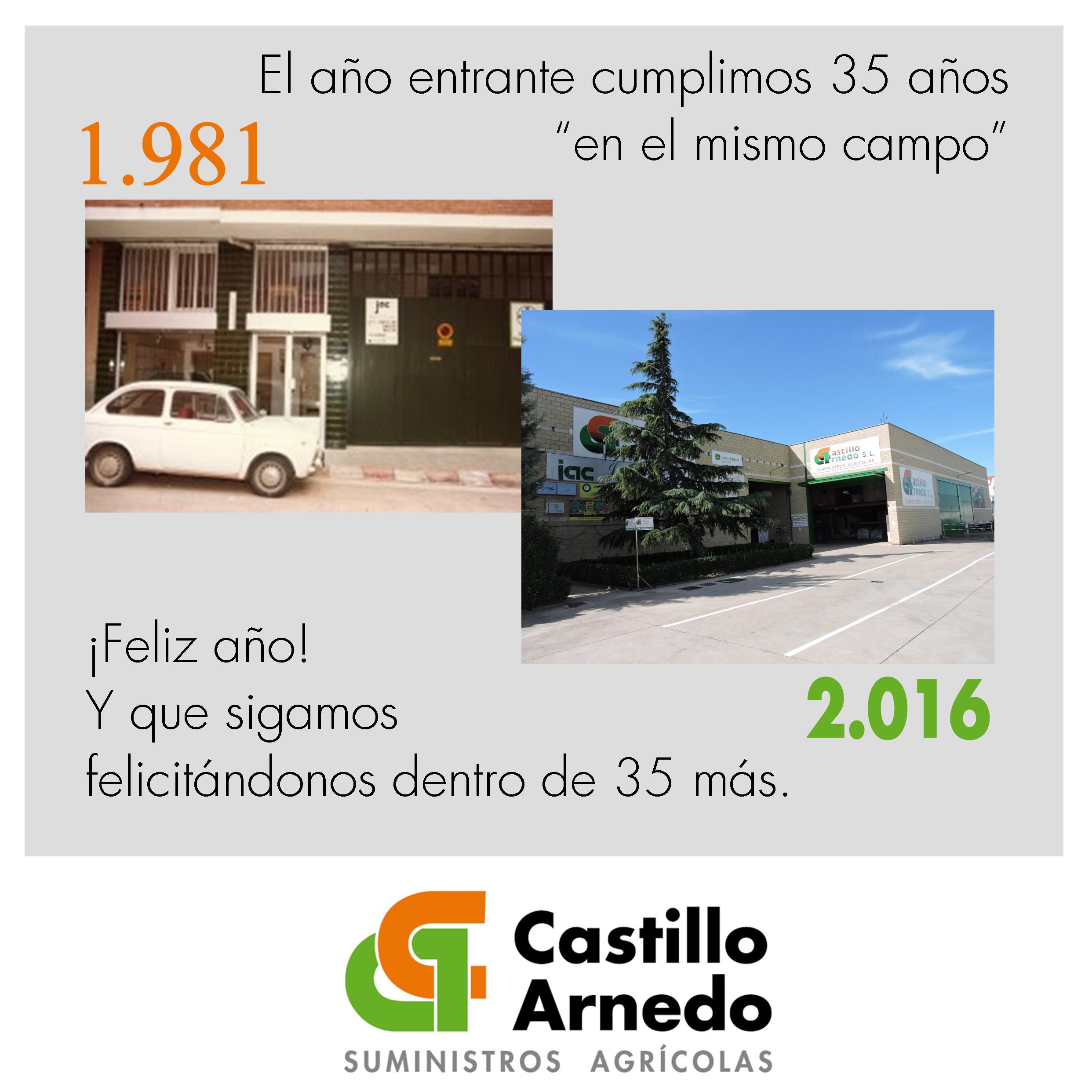 Feliz año 2016 desde Castillo Arnedo
